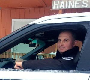 Haines police officer Brayton Long  handed in his resignation last week. (Jillian Rogers)