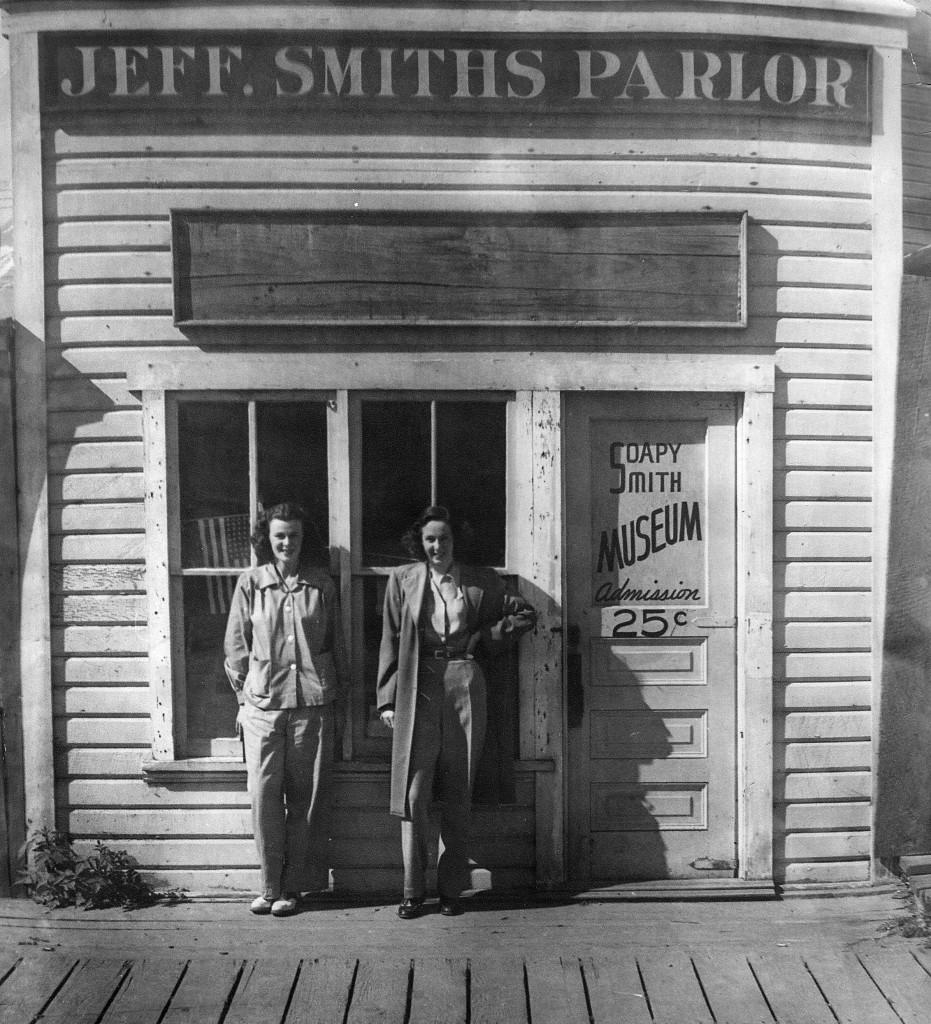 Jeff Smith's Parlor Museum circa 1930s. (National Park Service, Klondike Gold Rush National Historical Park, KLGO 00052)