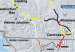 A screenshot of the Yukon 511 map on Wednesday morning. It shows the closure of the Klondike Highway.