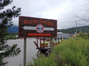 White Pass and Yukon Route sign in Skagway.