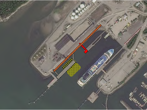 A rendering of port improvement including ore dock infrastructure replacements and a floating dock. (Chad Gubala)