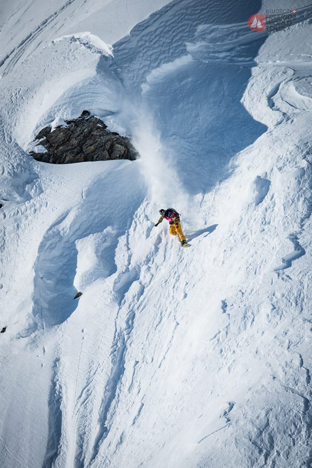 Flo Orley competing in Haines in 2015. (Photographer: David Carlier/Freeride World Tour)