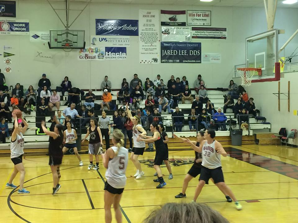 The Haines women play against Craig Thursday. (Courtesy Sarah Elliot)