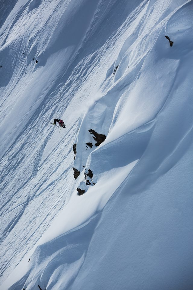 A skier flips during the Haines competition. (Courtesy Freeride World Tour)