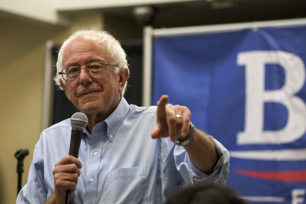 Bernie Sanders at a campaign event in Iowa in September 2015. (Phil Roeder-Creative Commons)