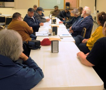 Haines-area veterans meet at Lynn Canal American Legion Post 2. (Photo by Jillian Rogers/KHNS)