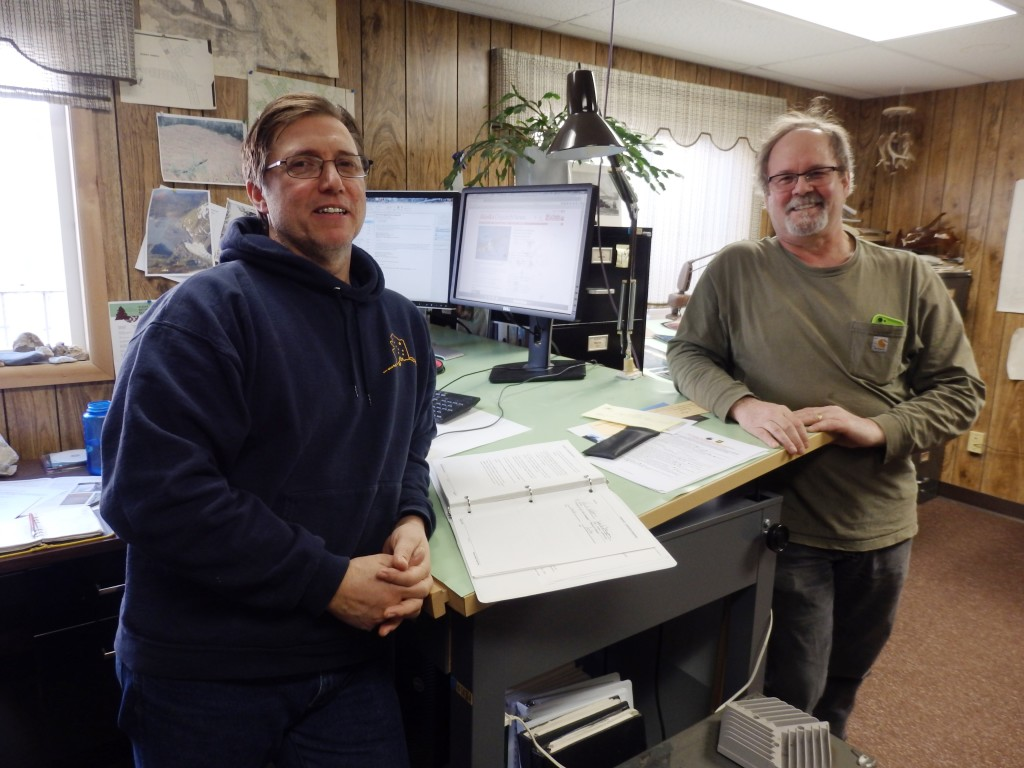 Greg Palmieri and Roy Josephson are Haines state foresters. (Emily Files)
