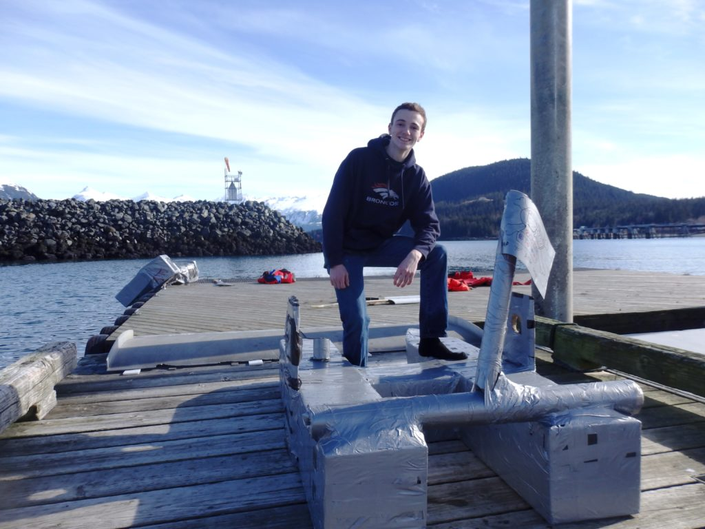 Haines School class tests the seafaring potential of duct tape