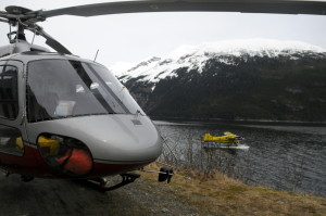 A DeHavilland Beaver belonging to Alaska Seaplanes made an emergency landing Wednesday morning in Lutak Inlet. No injuries were reported. (Jillian Rogers)