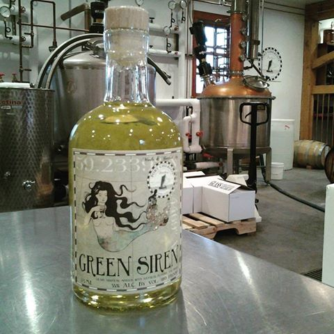 Green Siren Absinthe. (Port Chilkoot Distillery)