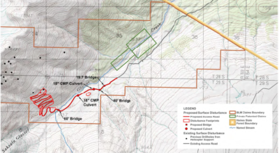 The proposed road and other infrastructure. (BLM)