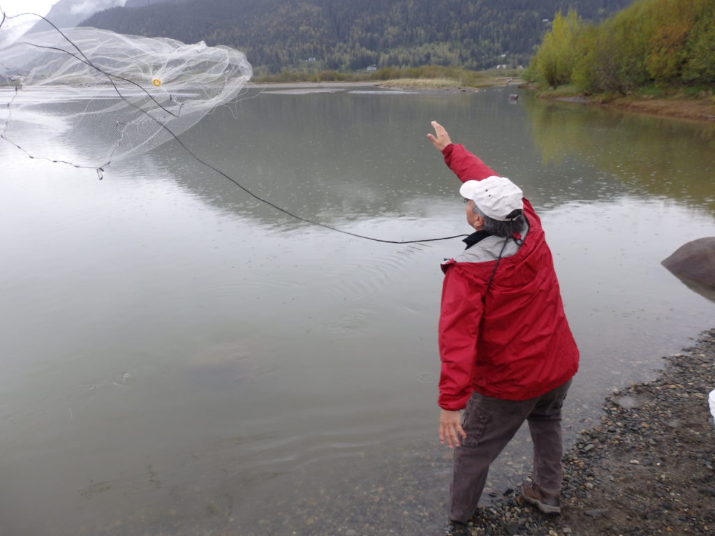 Williams tosses out his net. (Emily Files)