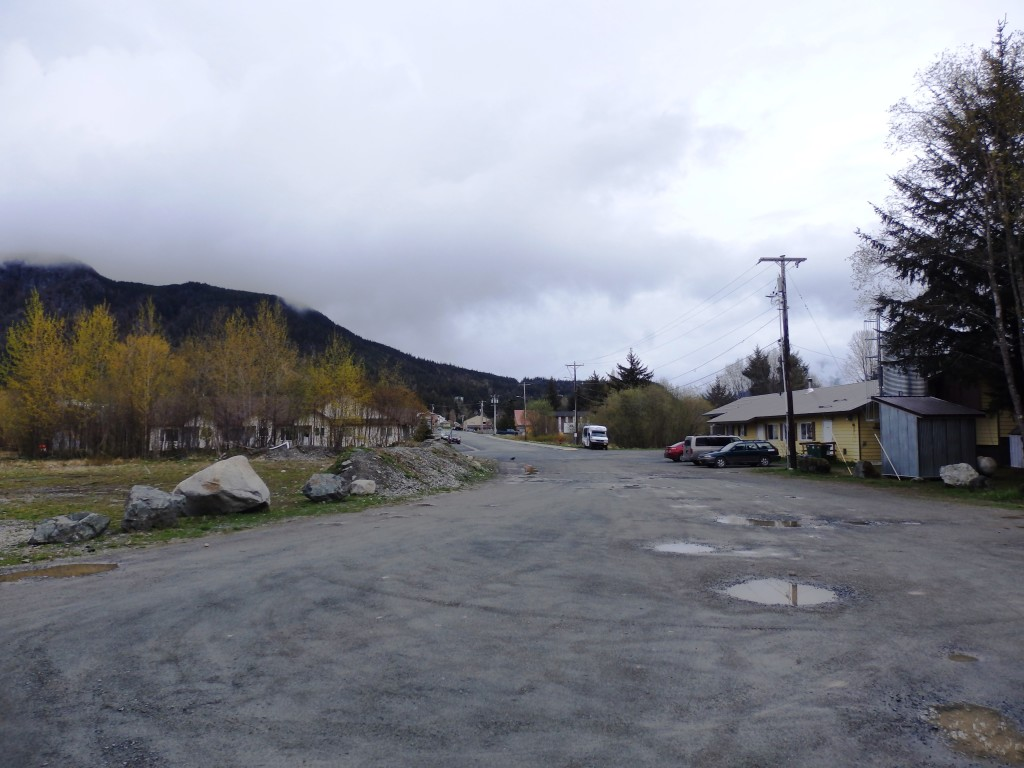 Roger Schnabel's lot is on the left, the senior center is on the right. (Emily Files)