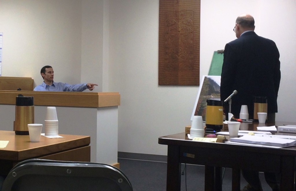 Reuben Loewen testifying Monday. (Jillian Rogers)