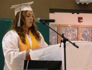 Salutatorian Bailey Stuart. (Emily Files)