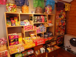 The 'nostalgic area,' with candies from decades gone by. (Emily Files)