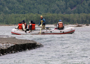 A raft on the Chilkat River in 2009. (John Cook/Flickr Creative Commons)