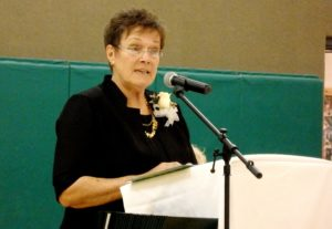 Commencement speaker Suzanne Newton. (Emily Files)