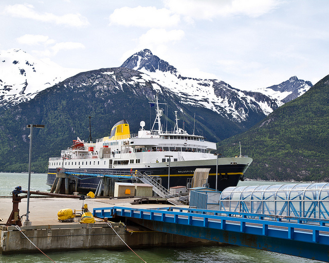 The Malaspina docked in Skagway in 2013. (Arthur T. LaBar/Creative Commons)