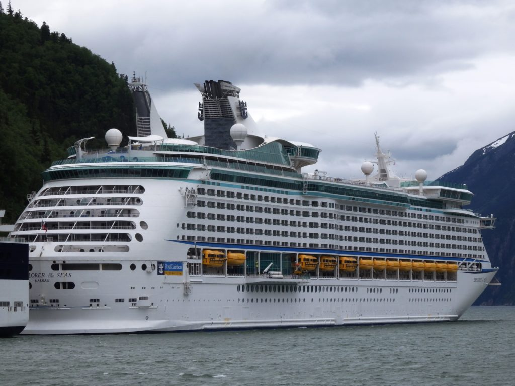 The Explorer of the Seas docked in Skagway. (Emily Files)