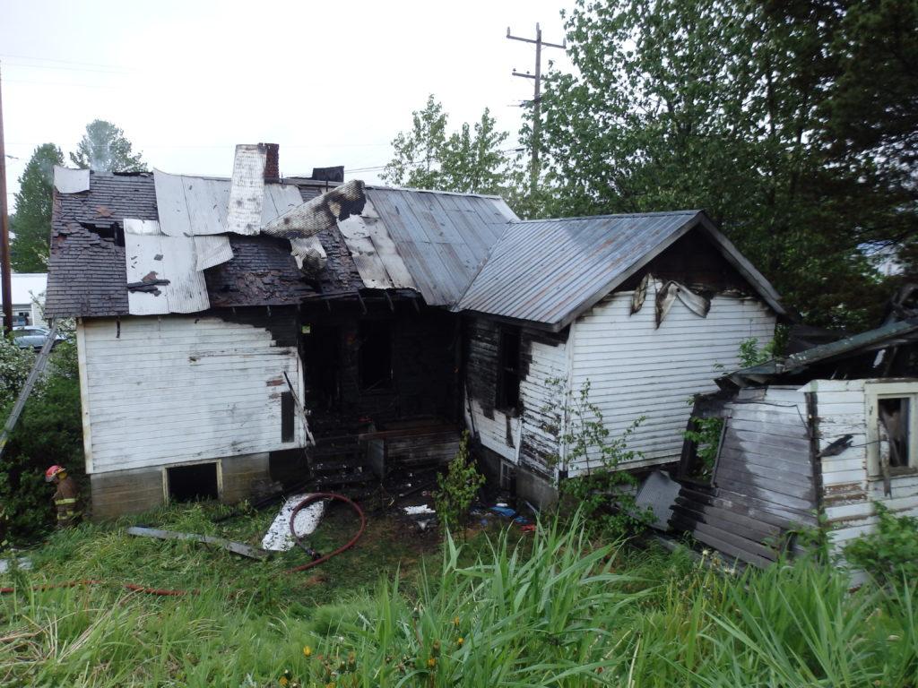Fire destroys former L.A.B. bunkhouse