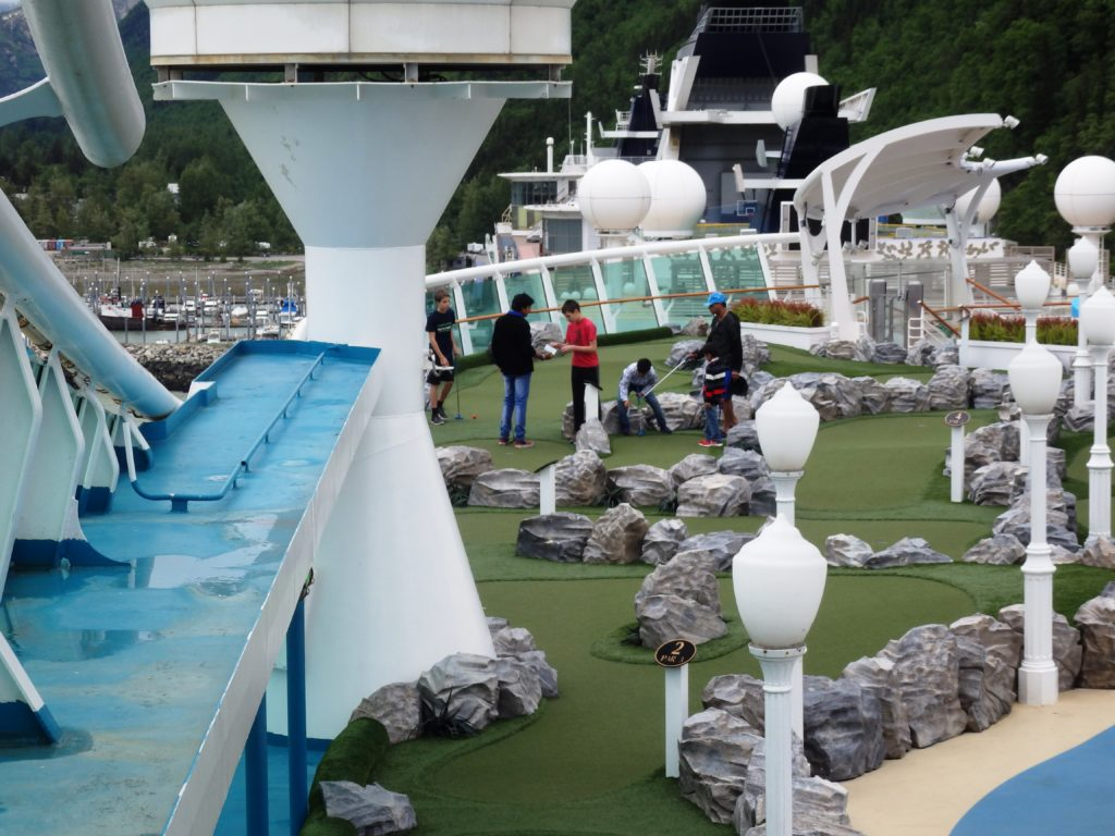 A mini golf course on the top of the ship. (Emily Files)