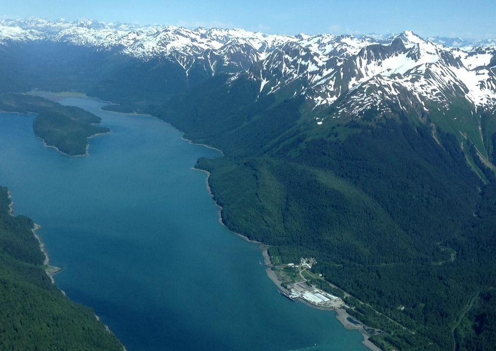 Excursion Inlet from the air. (Janine Allen, KHNS)