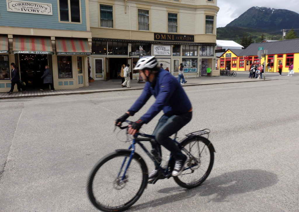 Cyclists in Skagway are being cautioned to follow state bike laws or face fines. (Emily Files)