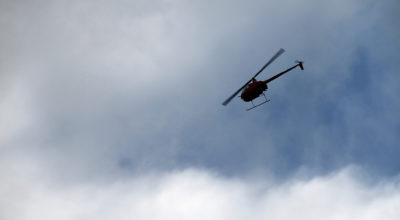 A helicopter in Alaska. (Kevin Duffy/Flickr Creative Commons)
