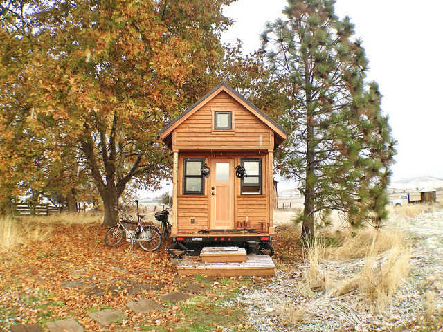 A tiny house on wheels. (Tammy Strobel/Flickr Creative Commons)