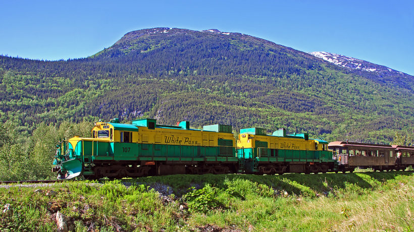 A White Pass and Yukon Route train. (Flickr John 6536)