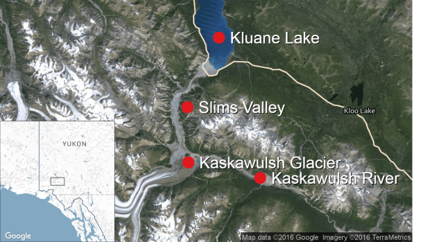 Retreating Yukon glacier makes river disappear