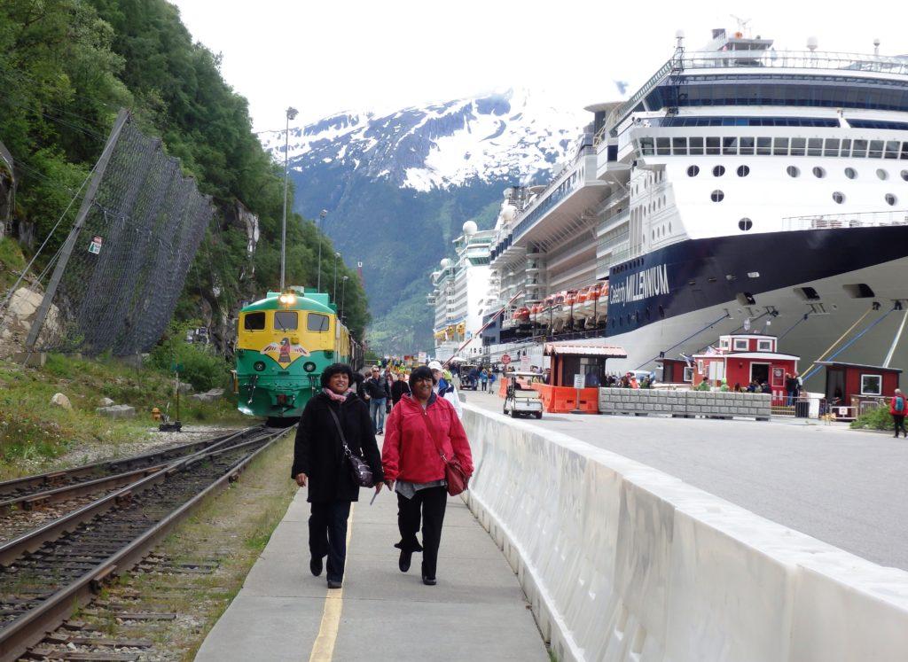 Cruise ships at Skagway's railroad dock. (Emily Files)