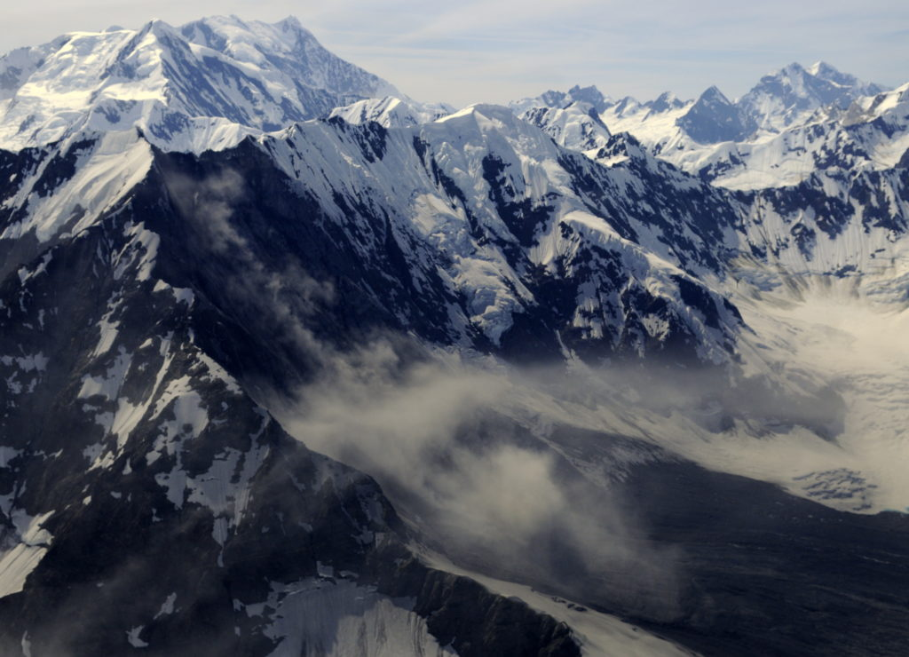 Flying high over the massive Glacier Bay landslide