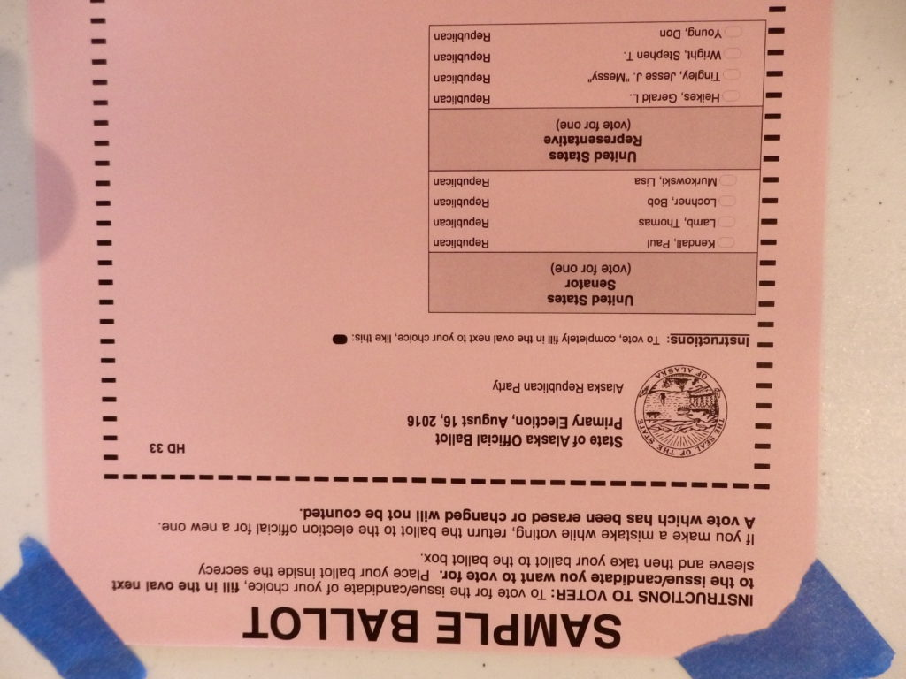 The Republican sample ballot. (Emily Files)