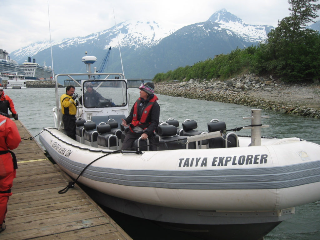 An Ocean Raft Alaska boat picks up passengers in Skagway in 2014. (Flickr Creative Commons/Curtis & Renee)
