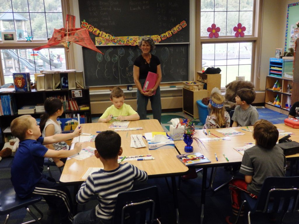 Denise Caposey teaches first graders. (Emily Files)