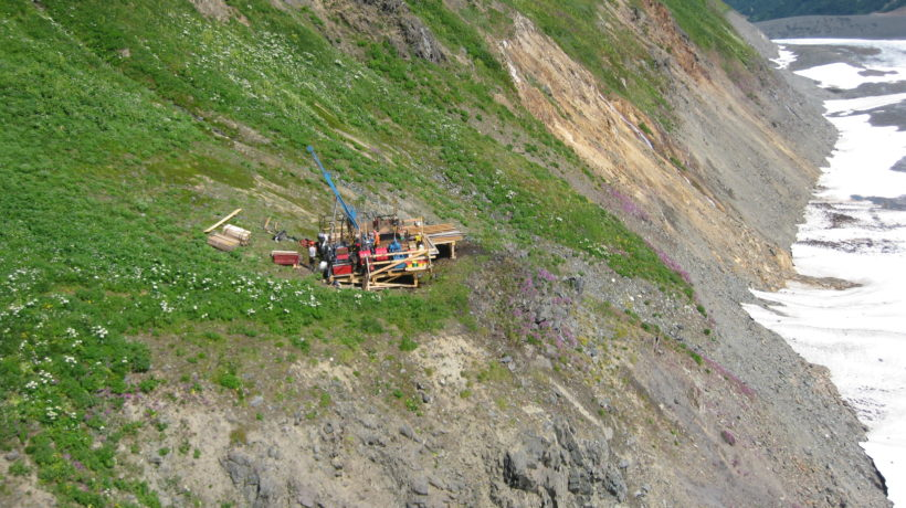 A recent drill site at the Palmer Project. (Constantine Metal Resources)
