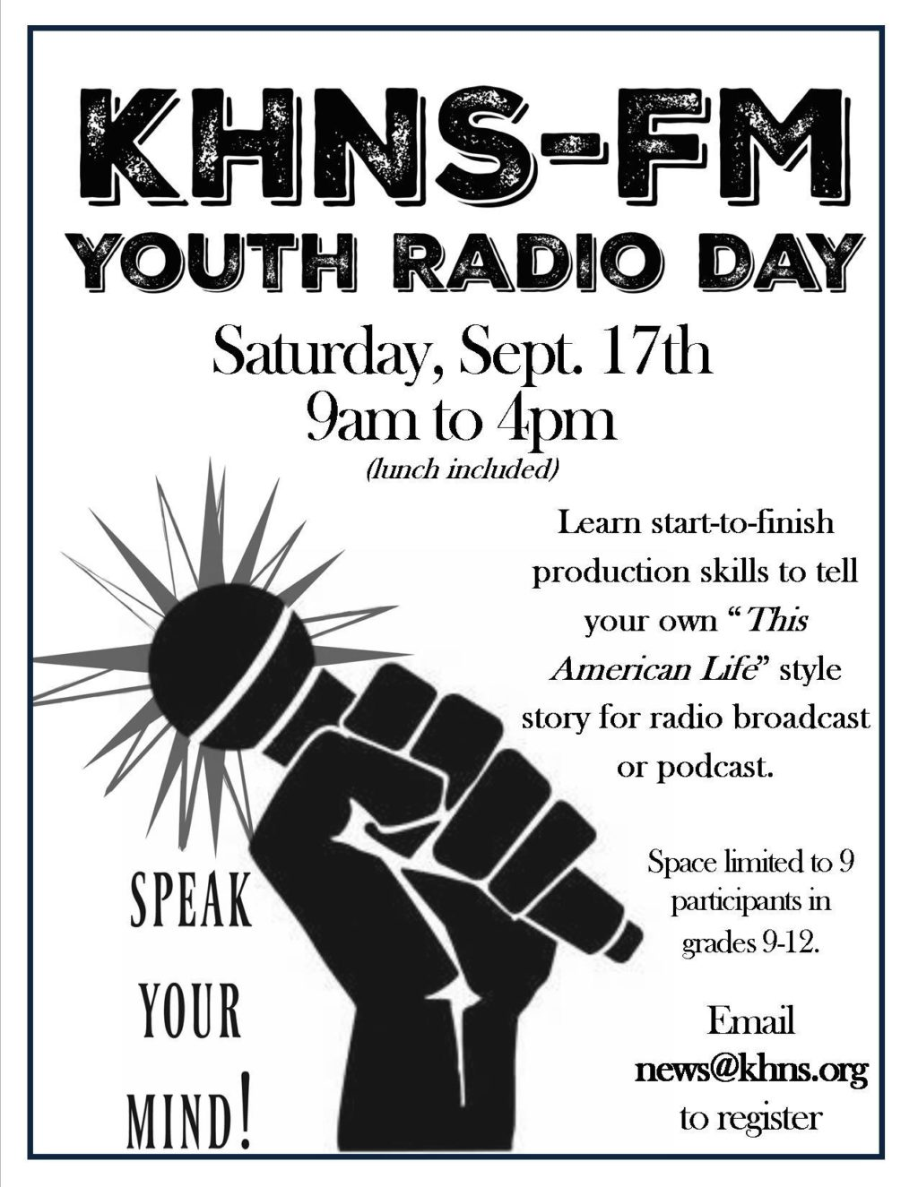 Join us for Youth Radio Day!
