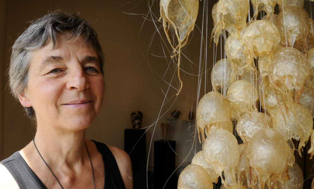 Art from the gut: Whitehorse artist shows off eclectic collection in Haines