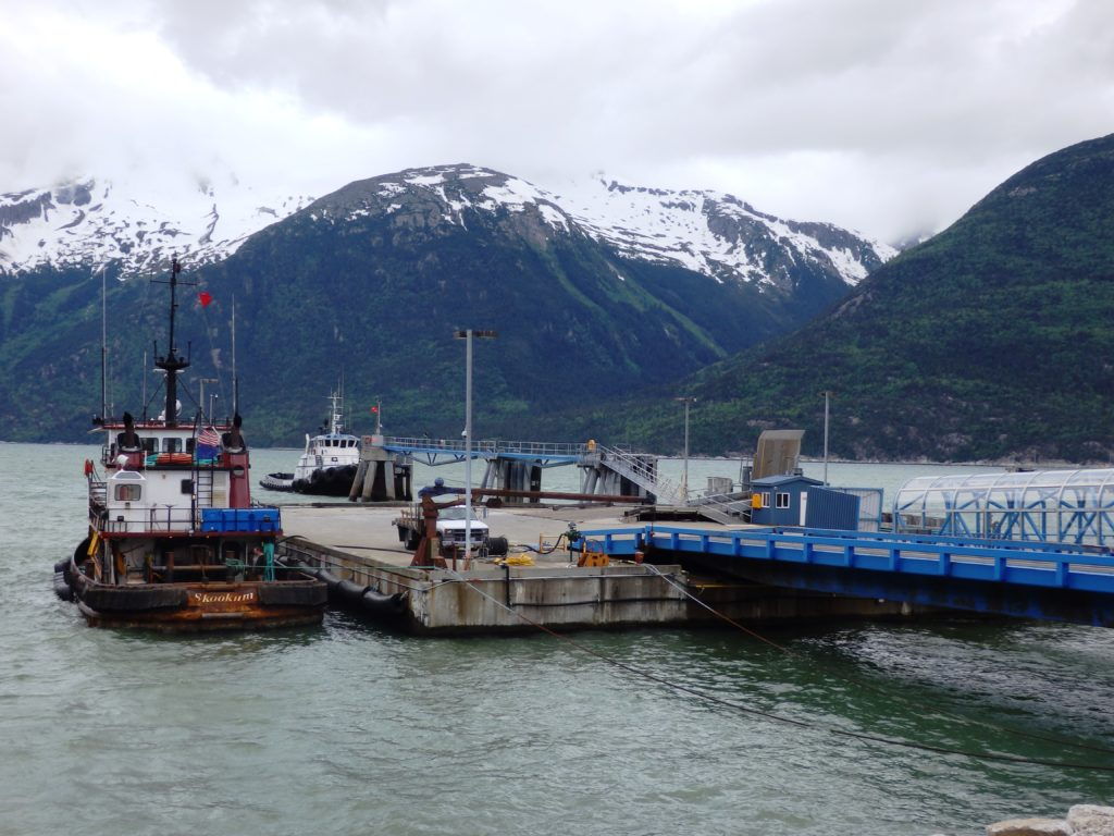 The Skagway ferry dock. (Emily Files)