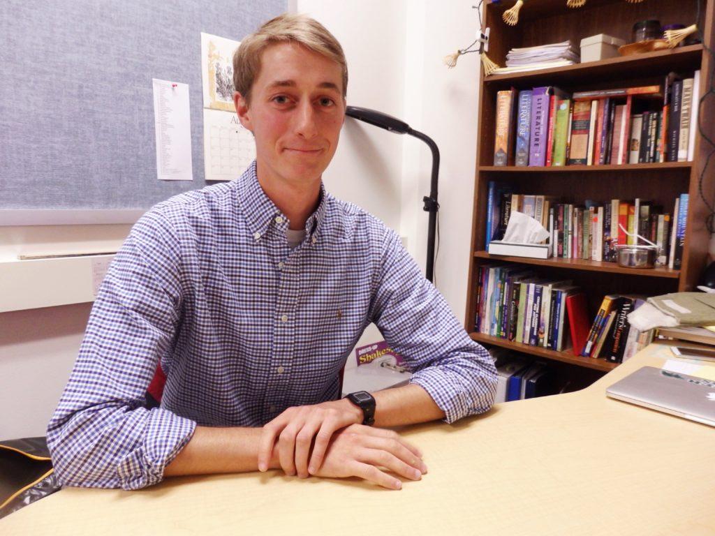 Alex Van Wyhe is the new high school English teacher. (Emily Files)