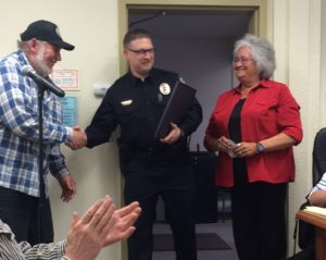 Don Turner received recognition from the borough at Tuesday's assembly meeting for being a stand-up citizen. (Jillian Rogers)