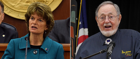 U.S. Sen. Lisa Murkowski and Rep. Don Young beat out Republican challengers on during the Alaska Primary Election. (Skip Gray/360 North)