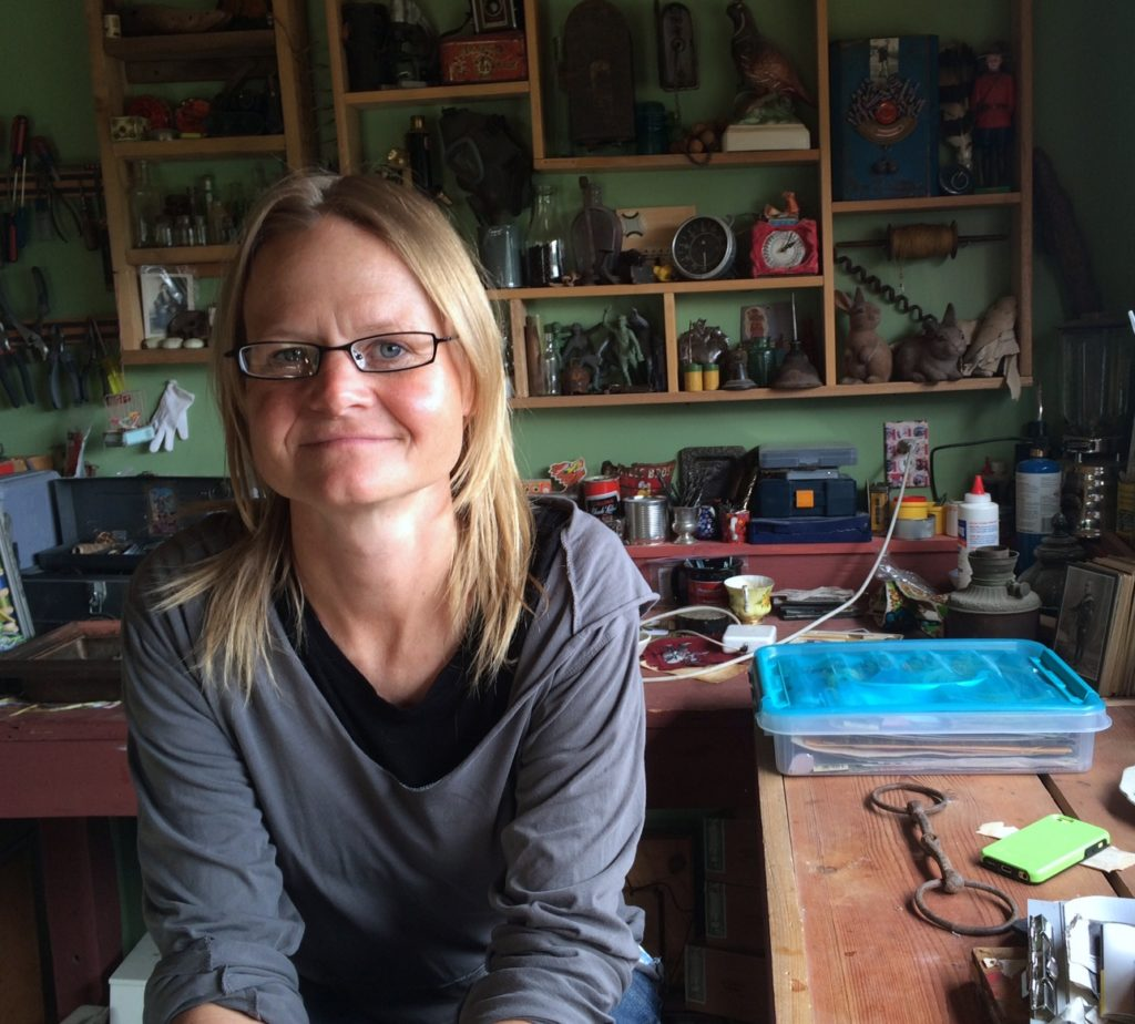 Andrea Nelson spent 14 days on the Chilkoot Trail recently as part of an artist residency program. (Jillian Rogers)