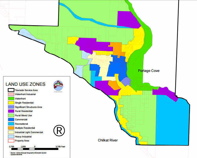A section of Haines' official zoning map.