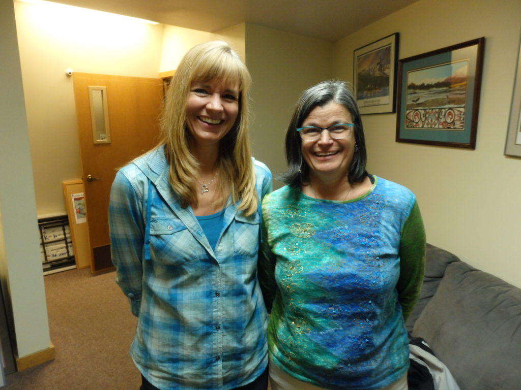Sarah Swinton and Lisa Schwartz are running to retain their seats on the Haines School Board. (Emily Files)