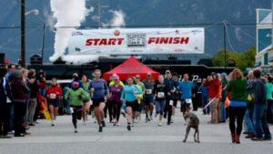 The Klondike Road Relay start in Skagway. (Sport Yukon)