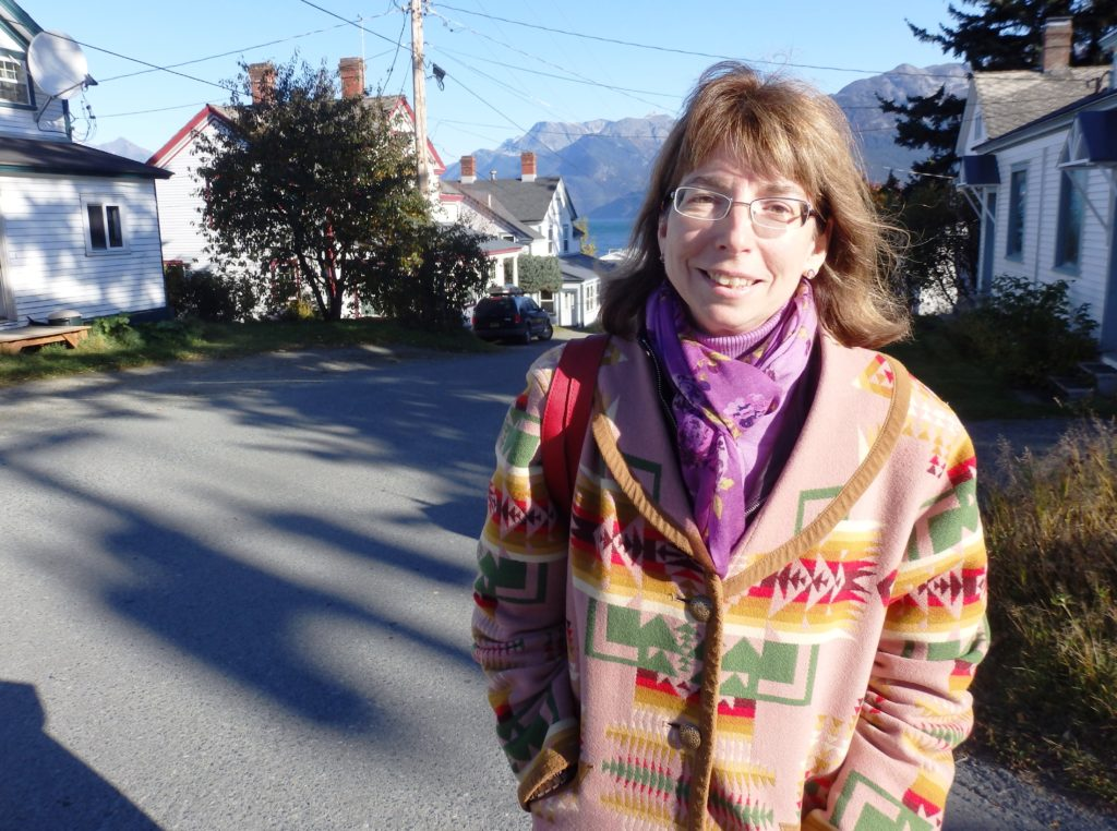 Margaret Stock in Haines on Oct. 8. (Emily Files)