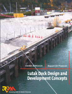 R&M's cover page for the design proposal for Lutak Dock.